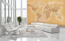 Papier peint papier peint photo 366x253cm ancienne carte du monde pour home & office