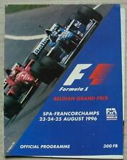 BELGIAN GRAND PRIX FORMULA ONE F1 1996 SPA FRANCORCHAMPS Official Programme