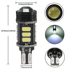 2x enon No Error Canbus T15 W16W 5630 COB 15-LED Backup Reverse Light Bulb white