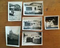 N°65 - 6 PHOTOS anciennes architecture ANNEES 40-50