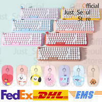Official BTS BT21 Baby Retro Wireless Keyboard+Mouse Bundle+Freebie+Free Express