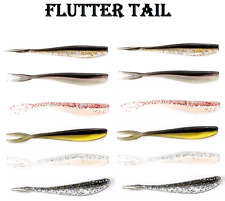 12x Soft Plastic Fishing Lures Flutter Tail 70mm Tackle Bream Trout PLASTICS