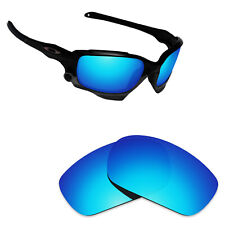 Hawkry Polarized Replacement Lenses for-Oakley Jawbone Ice Blue Mirror