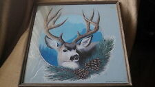 """Beautiful Mule Deer Lithograph-Framed- Awesome Piece- 21 by 21"""""""