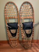 VINTAGE Tubbs Vermont 10x36 Wooden Snowshoes from VT - Great Cabin Look Decor!