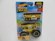 Hot Wheels 2021 Monster Trucks - Yellow 5 - Alarm w/ Hot Wheels Diecast Car