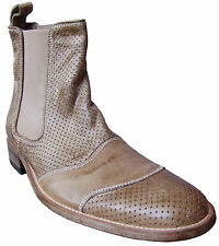 Belstaff Mens Classic Tourmaster Ankle Perforated Leather Boots EU Size 42 Shoes