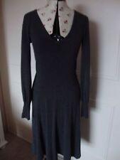 Zara Patternless V-Neck Long Sleeve Dresses for Women