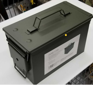 .50 Cal Ammo Can Military Quality Ammunition Bullet Storage Box Brand New Green
