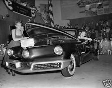 Tucker On Display at Car Show Models Showing Front Trunk  8  x  10  Photograph