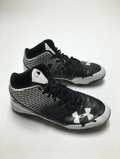 Under Armour Mens Shoes Baseball Cleats US 9.5 Black White