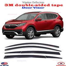 SMOKE DOOR VISOR WINDOW SUN RAIN VENT DEFLECTOR fits Honda CR-V 2017-2020 ⭐6pcs⭐