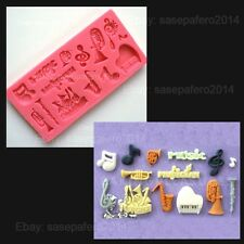 Musical Instruments, Music Themed Silicone Mold multipurpose. 14 cavities.