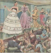 K0857 Sfilata di abiti bizzarri americani - Stampa antica del 1947