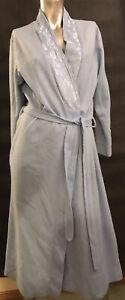 12 95cm Bust Light Sky Pastel Blue Floral Satin Tie Dressing Gown Bath Robe