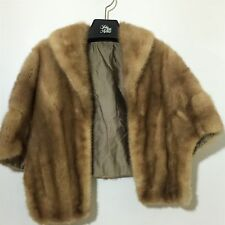 VTG Ladies Mink Fur Scarf Shawl Shoulder Wrap Cape Shrug
