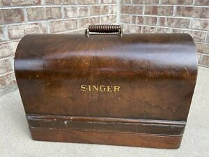 Original Classic SINGER 99 28 128 Sewing Machine BENT WOOD CASE
