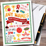Pack Of 10 Personalised Children's Birthday Party Invitations Kids Invites