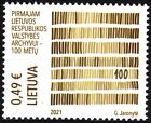 LITHUANIA 2021-01 History, Science: State Archives - 100, MNH