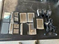 Lot of 7 Palm Tungsten E Organizer Palm Pilot PDA