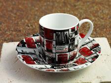 Könitz Porzellan Espresso Tasse & Untertasse London Repeat