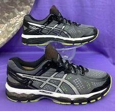 ASICS Gel KAYANO 22 Charcoal Silver Lime Running T547N 41.5 women 9.5 / men 8