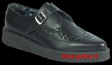 creepers scarpe punta pelle nera dark gothic rock punk metal emo