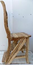 Chair Teak Solid Wood Made by Hand Chair Ladder Ha Double Function Color