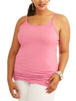 NEW Women's Plus Size Terra & Sky Long Tunic Cami in 9 Colors & 5 Sizes OX-4X.