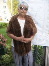 "#6 women Muskrat fur stole brown near the neck 64""in long, bottom part 67.5""lo"