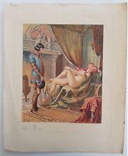 Original érotique lithographie de Edmond Malassis 1931