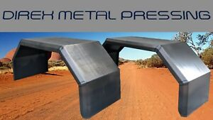 Off Road 350mm wide Trailer/Ute/Caravan 4x4 Mudguards Smooth x 2 (Locally Made)
