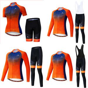 Women Cycling Jersey Bib Shorts Set Bike Clothing Bicycle Short/Long Outfit New