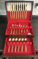 Americana Golden Heritage, International Silver, 43 Pc. Flatware Set w/ Chest