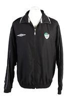 Vintage Umbro Mens Full Zip Tracksuit Top Lined Zip Pockets L Black - SW2457