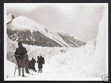 ASCENDING EAST RONGBUK GLACIER 1924 British Expedition MOUNT EVEREST POSTCARD