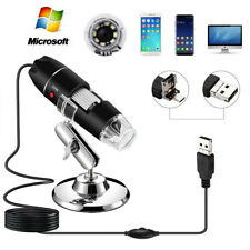 1000X/1600X Adjustable Microscope 8 LED Magnification Digital For WIN With Stand
