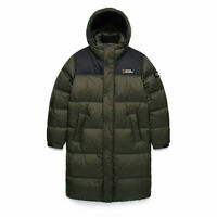 National Geographic BISON RDS DUCK Down Bench long Coat parka Jacket - Khaki
