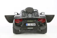 ROLLPLAY Elektrofahrzeug Kinderfahrzeug Kinder Auto Porsche Fahrzeug 918 Spyder