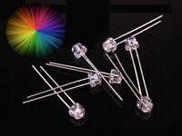 S360 - 50 Stück RGB LEDs 5mm Kurzkopf langsamer Lichtwechsel Regenbogen