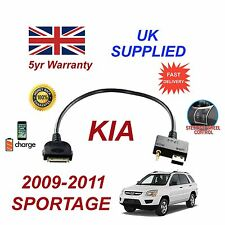 For KIA Sportage iPhone 3 3gs 4 4S iPod USB & 3.5mm Aux Audio Cable MY 2009-11