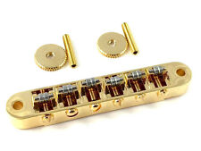 Gold Vintage Style Roller Saddle Tune-o-matic Style Guitar Bridge GB-VRT-G