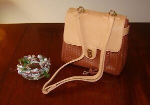 Rattan Style Across Body Designer Handbag. Brand new.