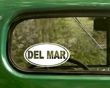 Del Mar Decal Sticker California 2 Oval, Bumper, Cars, Laptop