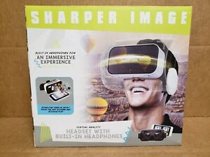 Sharper Image Virtual Reality Headset with Built-In Headphones NIOB