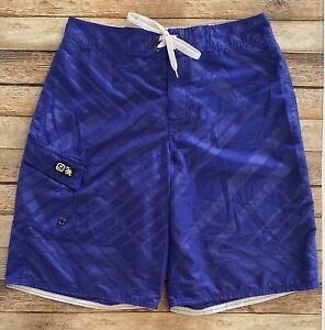 Supreme Mens Size 30 Blue Geometric Print Swim Trunk Board Shorts