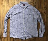 UNTUCKit Mens Linen Long Sleeve Button Front Shirt Size XL