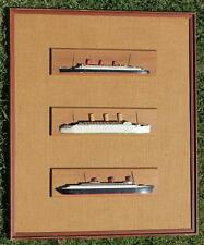 VAN RYPER CUNARD WHITE STAR LINE RMS QUEEN MARY NORMANDIE HALF BLOCK MODEL SHIPS