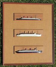 VAN RYPER CUNARD WHITE STAR LINE RMS QUEEN MARY NORMANDIE HALF BLOCK MODEL SHIPS