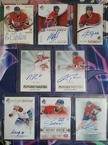 SP AUTHENTIC FUTURE WATCH AUTO ROOKIE #/999 MONTREAL CANADIENS LOT!